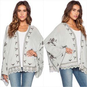 Free People Jackets & Coats - Free People embroidered kimono jacket